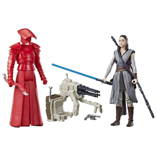 Star Wars Force Link Rey (Jedi Training) & Elite Praetorian Guard 10 cm Actionfiguren 2-Pack