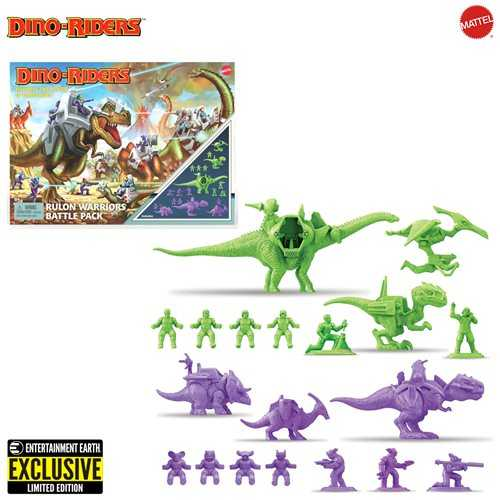 Dino-Riders Rulon Warriors Figuren Battle Pack - Entertainment Earth Exclusive