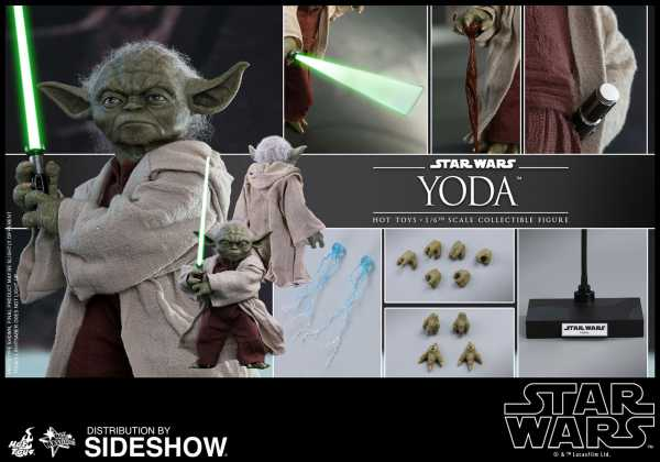 Star Wars Episode II Movie Masterpiece 1/6 Yoda 14 cm Actionfigur