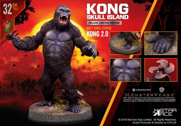 VORBESTELLUNG ! KONG SKULL ISLAND KONG 2.0 SOFT VINYL STATUE LTD DLX STATUE