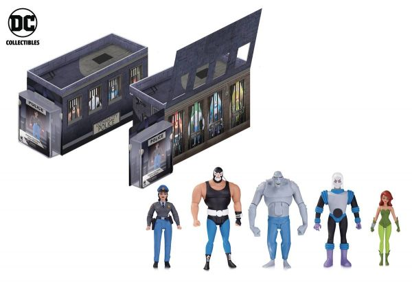BATMAN ANIMATED GCPD ROGUES GALLERY ACTIONFIGUREN 5-PACK