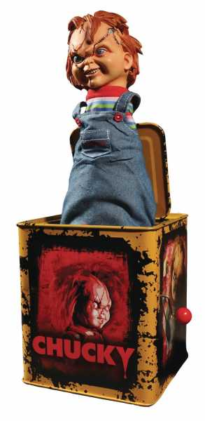 BRIDE OF CHUCKY SCARRED CHUCKY BURST A BOX