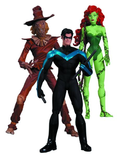 HUSH SCARECROW NIGHTWING POISON IVY ACTIONFIGUR 3-PACK