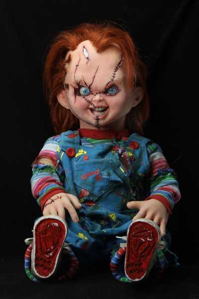 VORBESTELLUNG ! Chucky und seine Braut Prop Replik 1/1 Chucky Puppe 76 cm