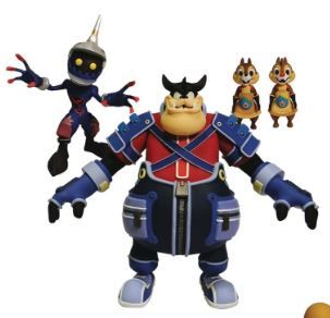 KINGDOM HEARTS SELECT SERIES 2 PETE WITH CHIP AND CHAP AND A SOLDIER ACTIONFIGUR