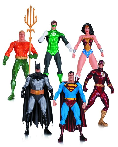 ALEX ROSS JUSTICE LEAGUE ACTIONFIGUREN 6-PACK