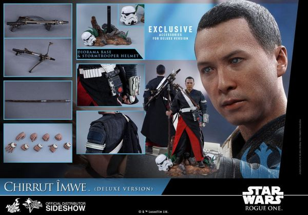 Hot Toys Star Wars Rogue One Movie Masterpiece Actionfigur 1/6 Chirrut Imwe Deluxe Ver. 29 cm