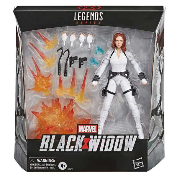 VORBESTELLUNG ! Marvel Legends Series Black Widow White Costume 15 cm Deluxe Actionfigur