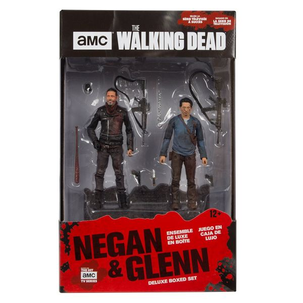 WALKING DEAD TV NEGAN & GLENN 12,5 cm ACTIONFIGUREN 2-PACK