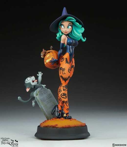VORBESTELLUNG ! Happy HallowQueens Collection Pumpkin Witch by Chris Sanders 34 cm Statue