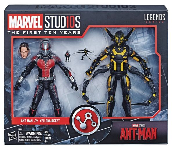 MARVEL MCU 10TH ANNIVERSARY ANT-MAN & YELLOWJACKET ACTIONFIGUREN 2-PACK