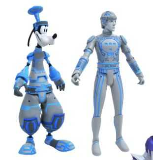 KINGDOM HEARTS SELECT SERIES 3 SPACE PARANOIDS GOOFY WITH TRON ACTIONFIGUR