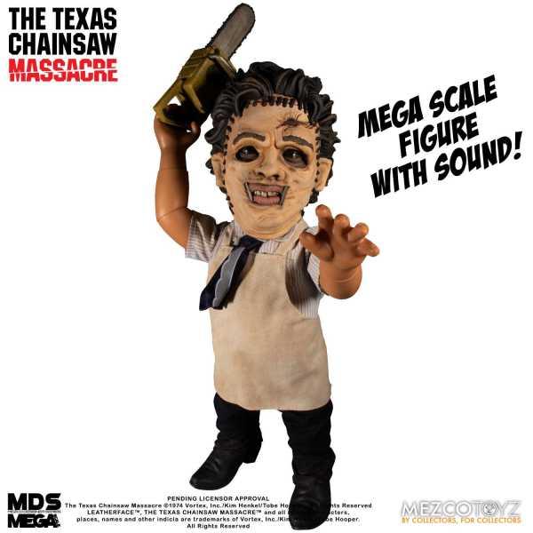 VORBESTELLUNG ! Texas Chainsaw Massacre Mega Scale Leatherface 38 cm Actionfigur mit Sound