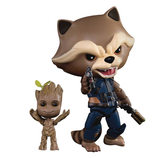 GUARDIANS OF THE GALAXY 2 EGG ATTACK ACTION-049 ROCKET WITH KID GROOT PX ACTIONFIGUR