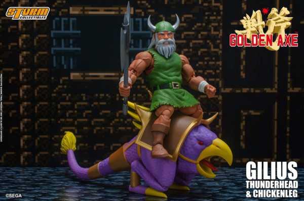 VORBESTELLUNG ! Golden Axe Gilius Thunderhead and Chicken Leg 1:12 Scale Actionfigur