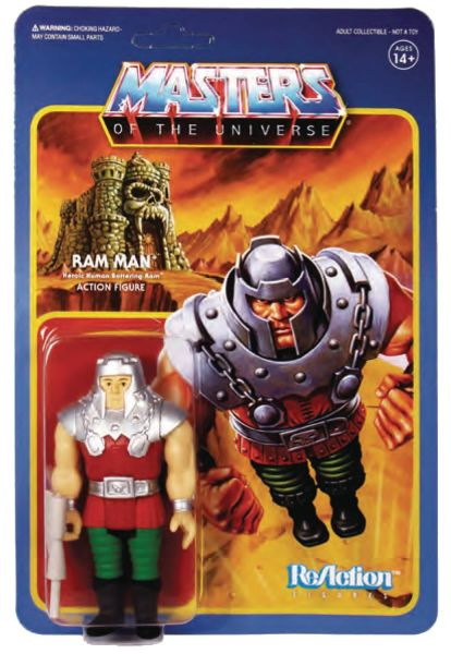 MASTERS OF THE UNIVERSE 10 cm REACTION WAVE 4 RAM MAN ACTIONFIGUR