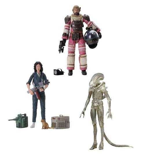 Alien 40th Anniversary 18 cm Actionfiguren Wave 1 Komplett-Set