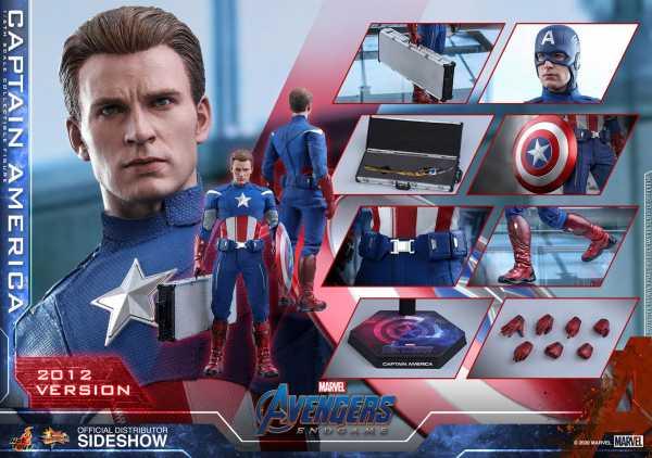 VORBESTELLUNG ! Avengers: Endgame Movie Masterpiece 1/6 Captain America (2012) 30 cm Actionfigur