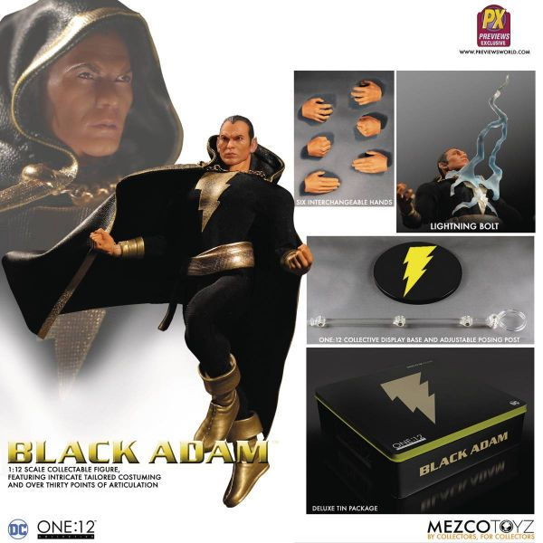 ONE-12 COLLECTIVE DC PX BLACK ADAM ACTIONFIGUR