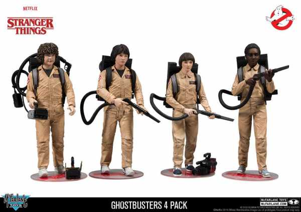 STRANGER THINGS GHOSTBUSTERS EXCLUSIVE ACTIONFIGUREN-SET