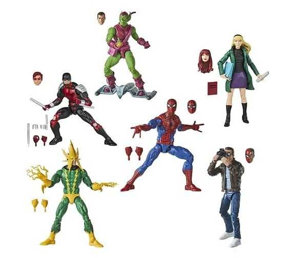 Spider-Man Retro Marvel Legends 6-Inch Action Figures Wave 1 Set