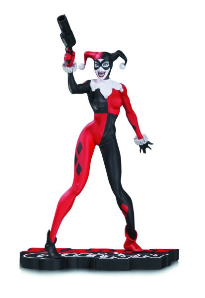 HARLEY QUINN RED WHITE & BLACK STATUE BY JIM LEE