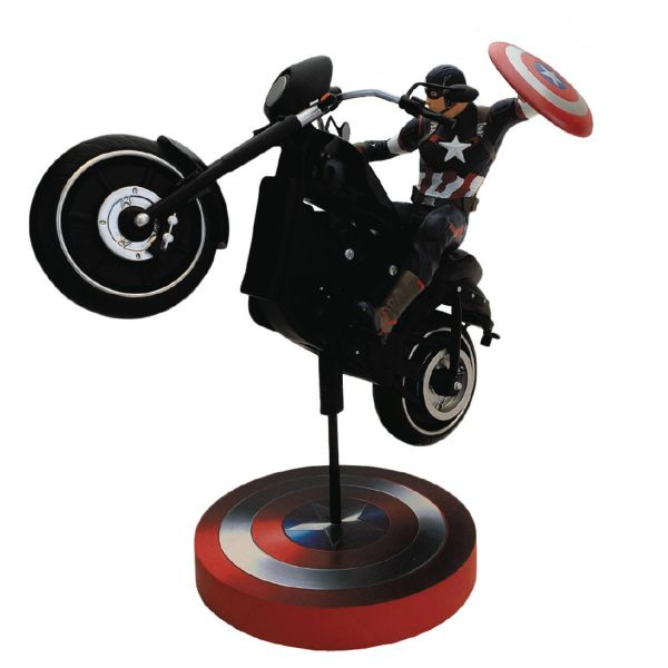 AVENGERS CAPTAIN AMERICA ON BIKE PREMIUM MOTION STATUE