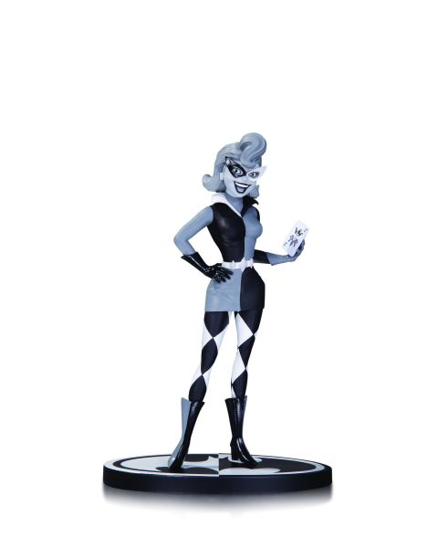 BATMAN BLACK AND WHITE STATUE HARLEY QUINN BY DINI