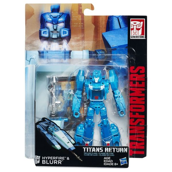 TRANSFORMERS GENERATIONS TITANS RETURN DELUXE CLASS HYPERFIRE & BLURR ACTIONFIGUR
