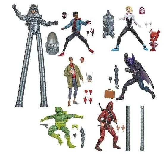 VORBESTELLUNG ! Spider-Man Marvel Legends Stilt-Man 6 Inch Actionfiguren Komplett-Set