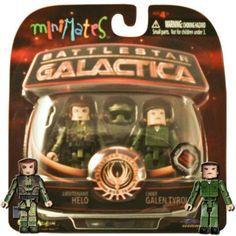 Battlestar Galactica Series3 Minimates Helo & Chief Tyrol