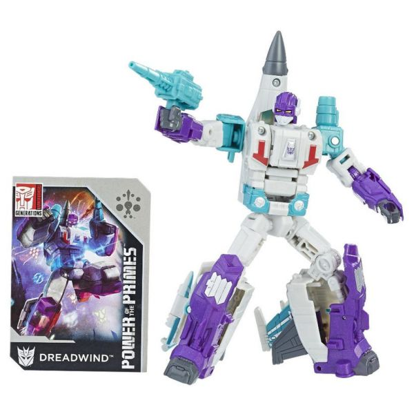 TRANSFORMERS GENERATIONS POWER OF THE PRIMES DELUXE CLASS DREADWIND ACTIONFIGUR