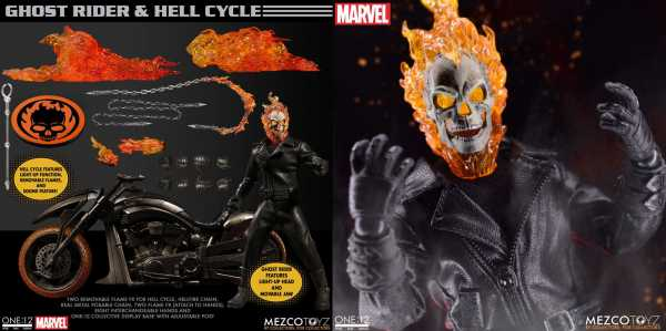 VORBESTELLUNG ! ONE-12 COLLECTIVE MARVEL GHOST RIDER & HELL CYCLE ACTIONFIGUR & VEHICLE SET