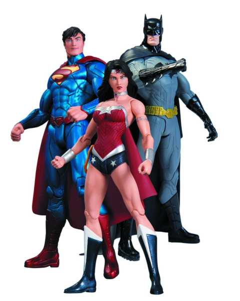 DC COMICS NEW 52 BATMAN WONDER WOMAN SUPERMAN ACTIONFIGUREN 3-PACK
