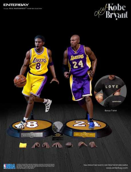 VORBESTELLUNG ! NBA Collection Real Masterpiece 1/6 Kobe Bryant Upgraded Re-Edition 30cm Actionfigur
