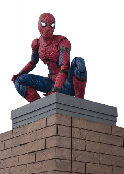 SPIDER-MAN HOMECOMING SPIDER-MAN S.H.FIGUARTS ACTIONFIGUR WITH WALL SET
