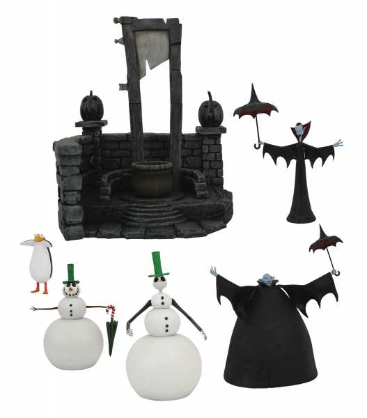 NIGHTMARE BEFORE CHRISTMAS SELECT SERIES 7 ACTIONFIGUREN KOMPLETT-SET