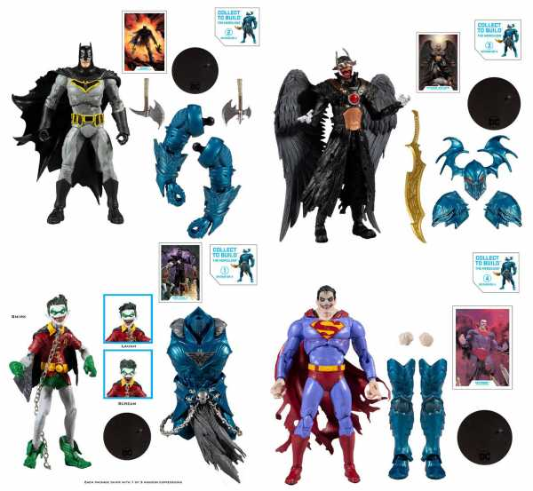 DC Multiverse Build A Batman The Merciless 18 cm Actionfiguren Komplett-Set