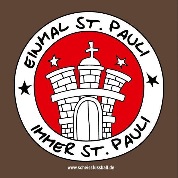 """""""...IMMER ST. PAULI"""" AUFKLEBER 25 STÜCK (KLEIN)"""