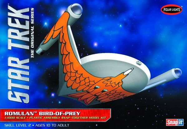 STAR TREK ROMULAN BIRD OF PREY 1/1000 SNAP MODELLBAUSATZ
