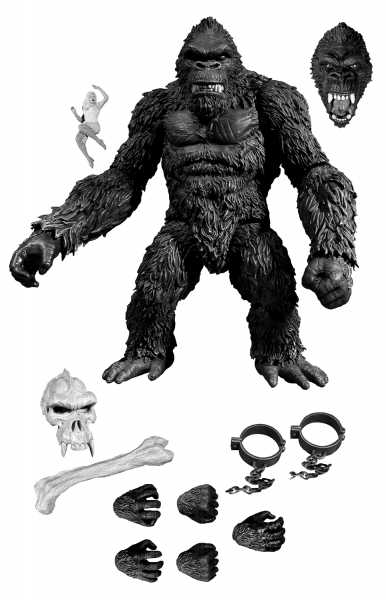 KING KONG OF SKULL ISLAND PX 7 INCH ACTIONFIGUR EXCLUSIVE BLACK & WHITE VERSION