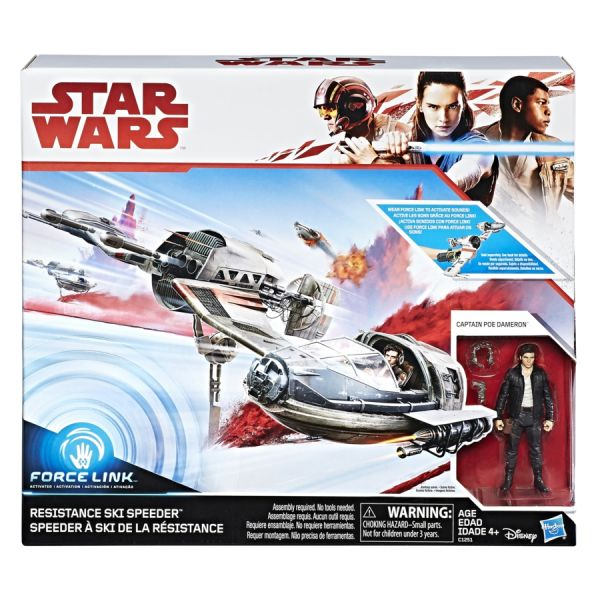 STAR WARS GALAXY EPISODE 8 RESISTANCE SKI SPEEDER AND CAPTAIN POE DAMERON