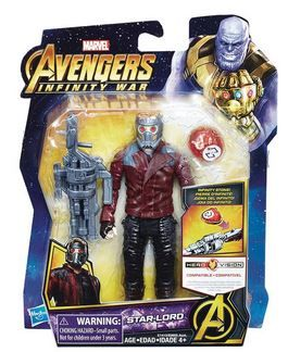 AVENGERS 15 cm STAR-LORD ACTIONFIGUR MIT INFINITY STONE