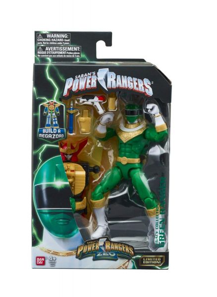 POWER RANGERS LEGACY ZEO GREEN RANGER ACTIONFIGUR