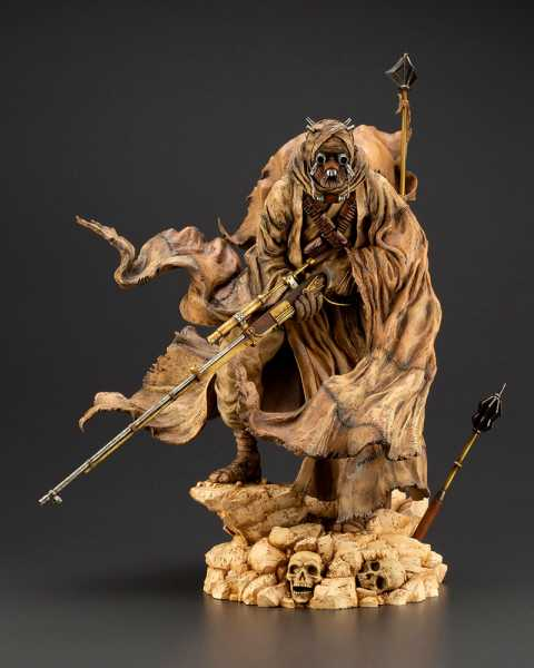 STAR WARS A NEW HOPE TUSKEN RAIDER BARBARIC DESERT TRIBE ARTFX STATUE
