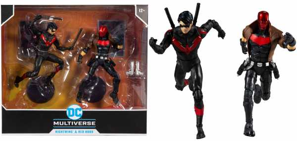 DC Multiverse Night Wing VS Red Hood 18 cm Collector Actionfiguren Multipack