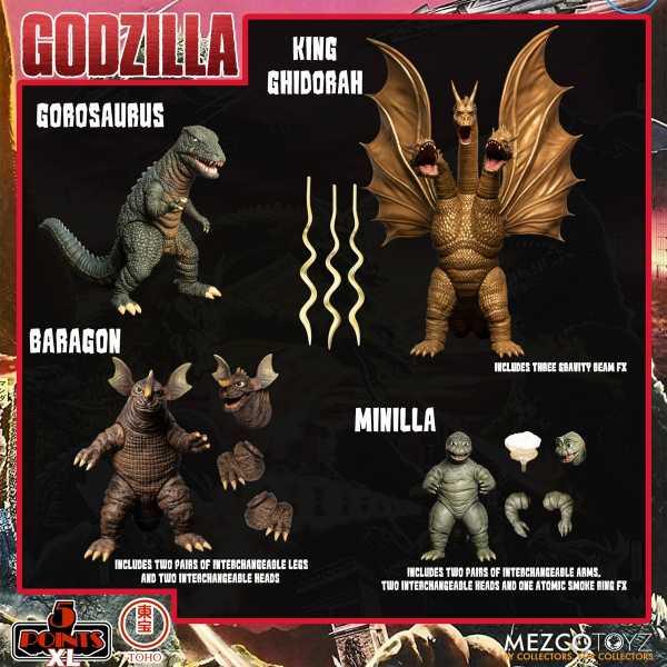 VORBESTELLUNG ! Godzilla: Destroy All Monsters (1968) 5 Points XL Round 2 Actionfiguren Box-Set