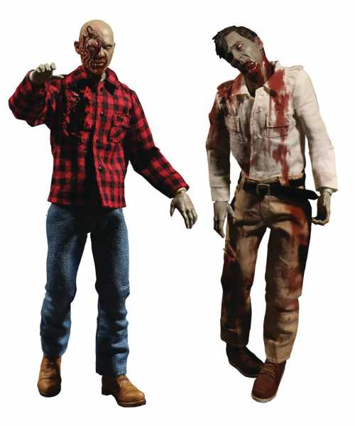 ONE-12 COLLECTIVE DAWN OF DEAD FLY BOY & PLAID ZOMBIE ACTIONFIGUR 2-PACK
