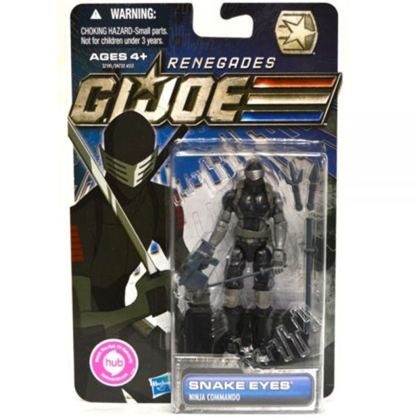 GI JOE 30TH ANNIVERSARY RENEGADES SNAKE EYES ACTIONFIGUR