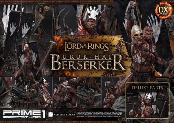 VORBESTELLUNG ! Herr der Ringe 1/4 Uruk-Hai Berserker 93 cm Statue Deluxe Version